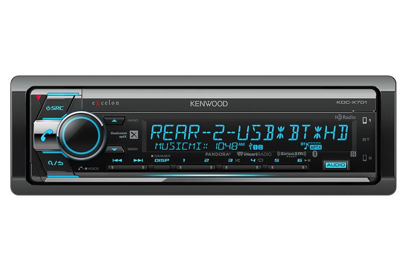 Kenwood Excelon KDC-X701 Car Audio AM/FM, CD, With Bluetooth and HD Radio Car Audio CD Receiver