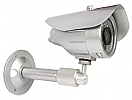 Wirepath™ Surveillance 100-Series Bullet Analog Outdoor Camera with IR (420 TVL | Silver)