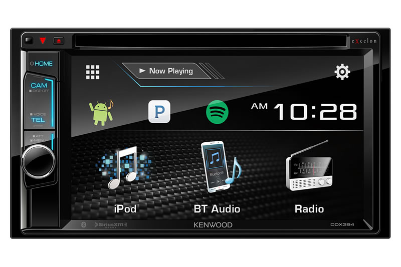 "Kenwood Excelon DDX394 2 Din 6.2"" DVD Screen, Bluetooth, Sirius XM Tuner Car Audio Receiver"